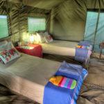 Okavango Expeditions guest tent interior