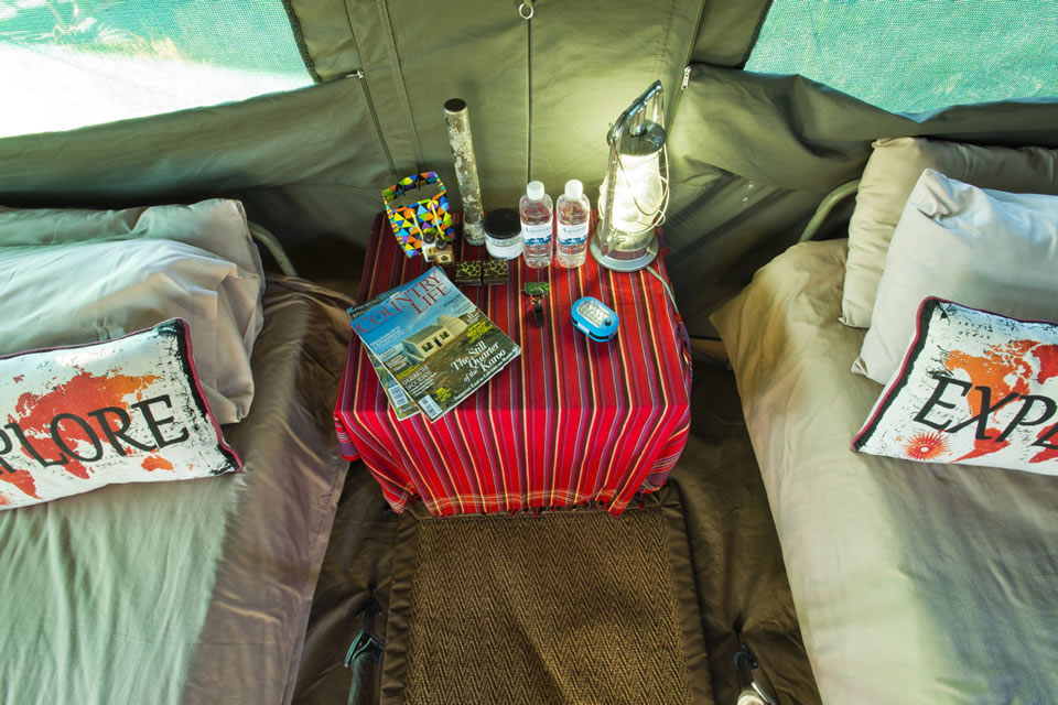 Okavango Expeditions guest tent interior