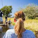On a mokoro excursion with Okavango Expeditions