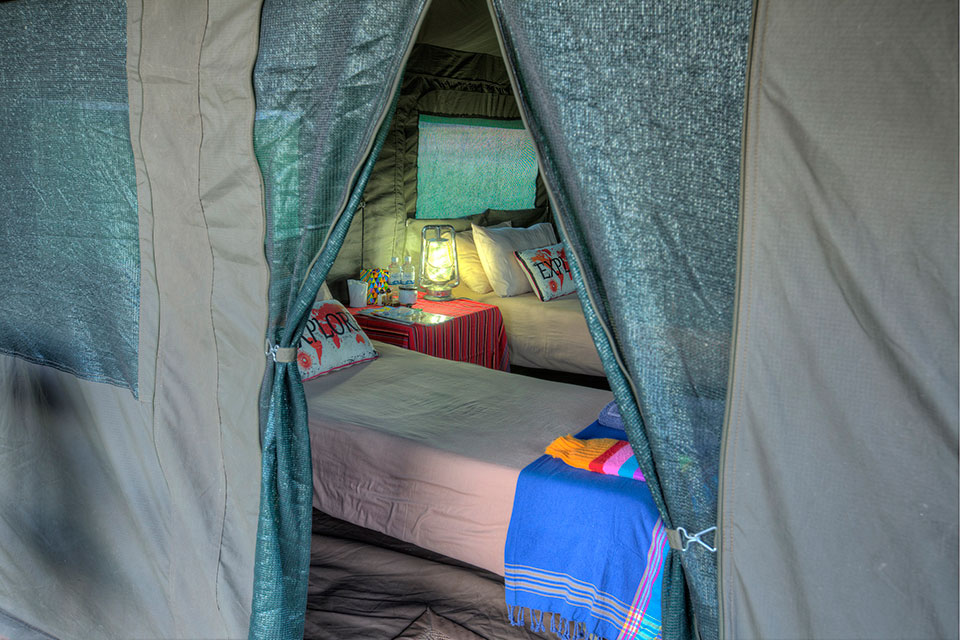 Okavango Expeditions client tent