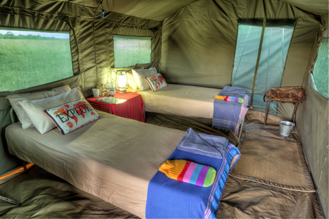 Okavango Expeditions tent interior