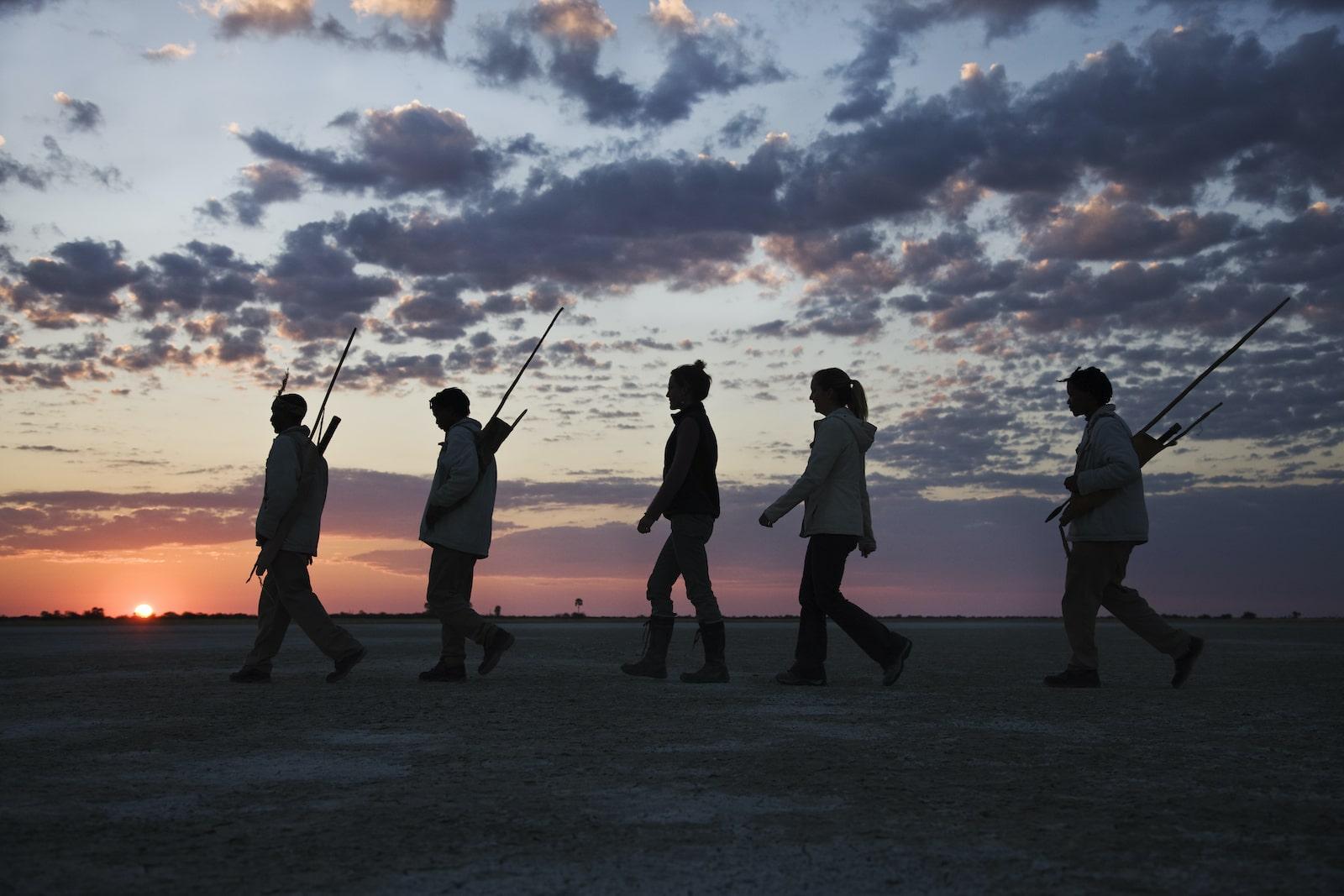 tourists in botswana